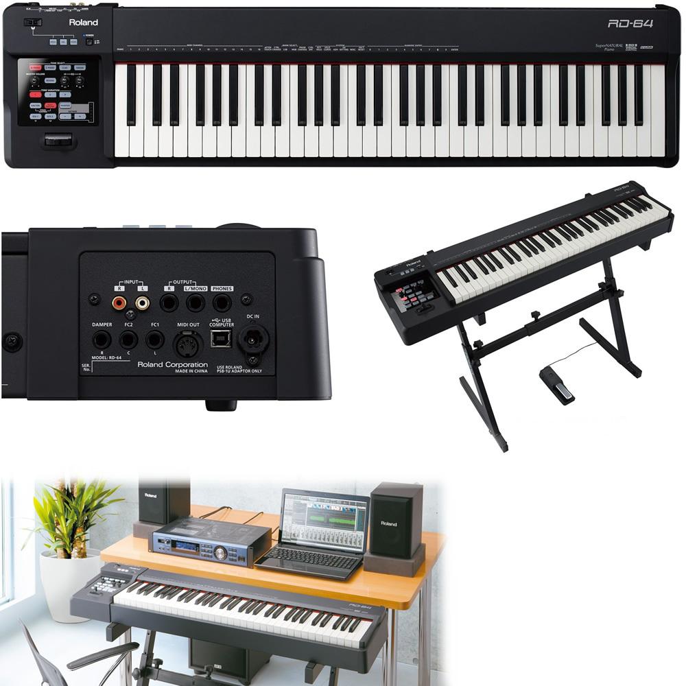 roland rd 64 piano electr nico y controlador midi. Black Bedroom Furniture Sets. Home Design Ideas
